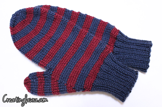 Creating Laura: Knitting Mens Mittens