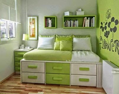 amazing creativity storage solution for a small bedroom
