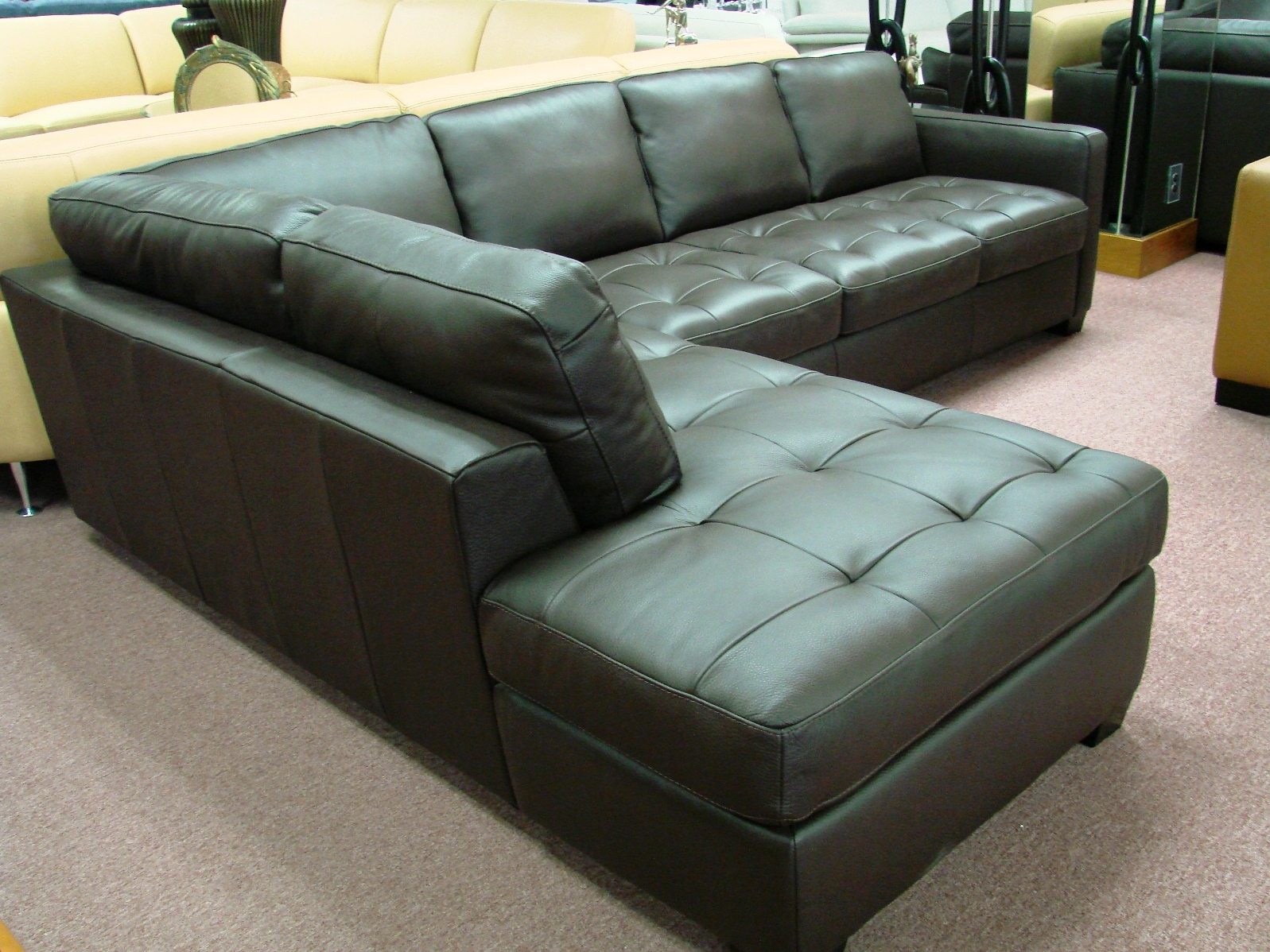 Natuzzi leather sofas sectionals by interior concepts furniture brand new leather sofas by - Sofas natuzzi ...