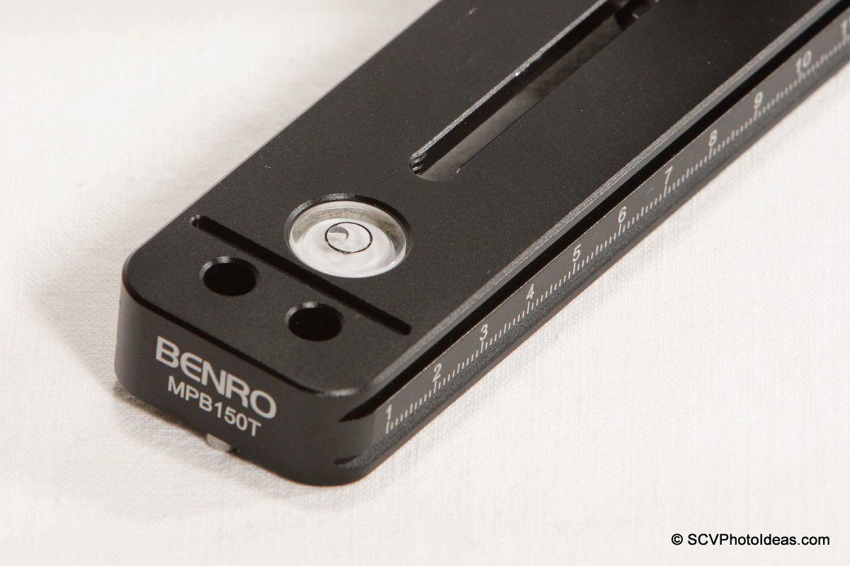 Benro MPB150T base rail front end detail