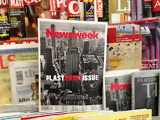Newsweek's #lastprintissue sold in #Barcelona (Bye bye and see you online!)