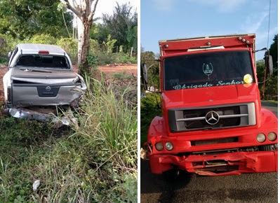 Ex-prefeito de Santa Quitéria se envolve em acidente na BR-135
