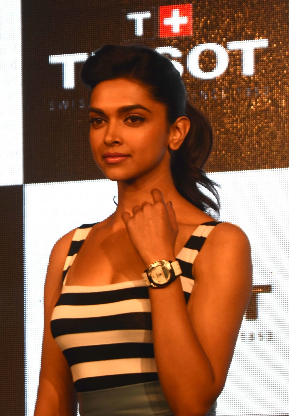 Deepika Padukone Looks Super Hot At The Launch Of New Collection By Tissot Watches