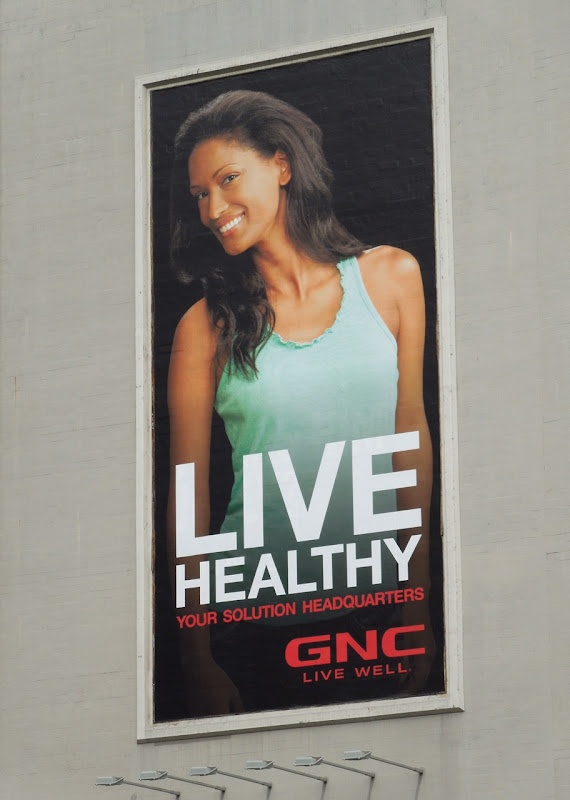 GNC Live Healthy colour billboard