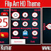 Flip Art Live HD Theme For Nokia Asha202,300,303,C2-02,C2-03,C3-01 Touch and Type Devices.