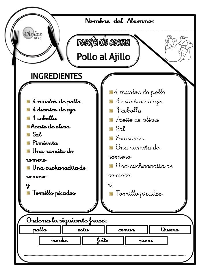 Cheolive Ya Tenemos El Primer Cuadernillo De Recetas De Cocina Para