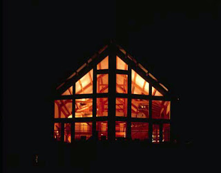 timber frame in the night
