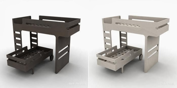 Loft bunk bed with toddler bed from Rafa-kids