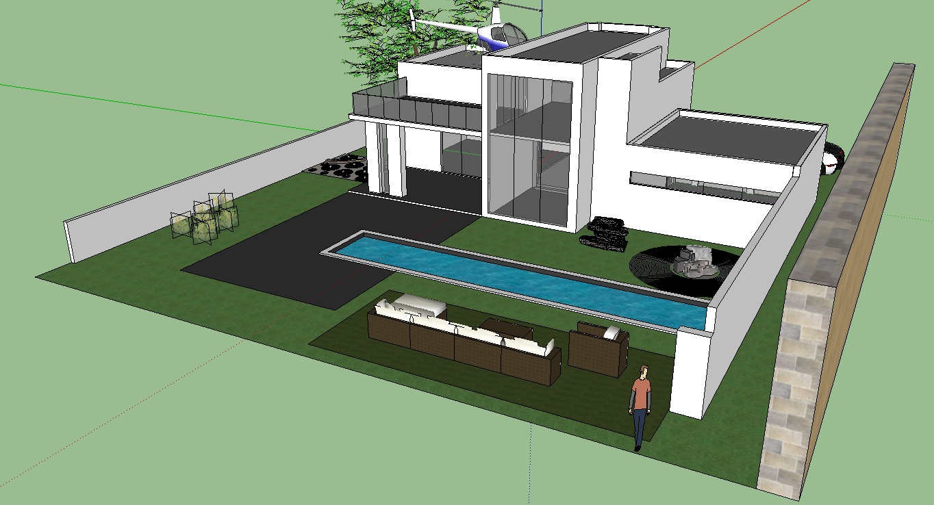 Image gallery sketchup houses for Modern house sketchup