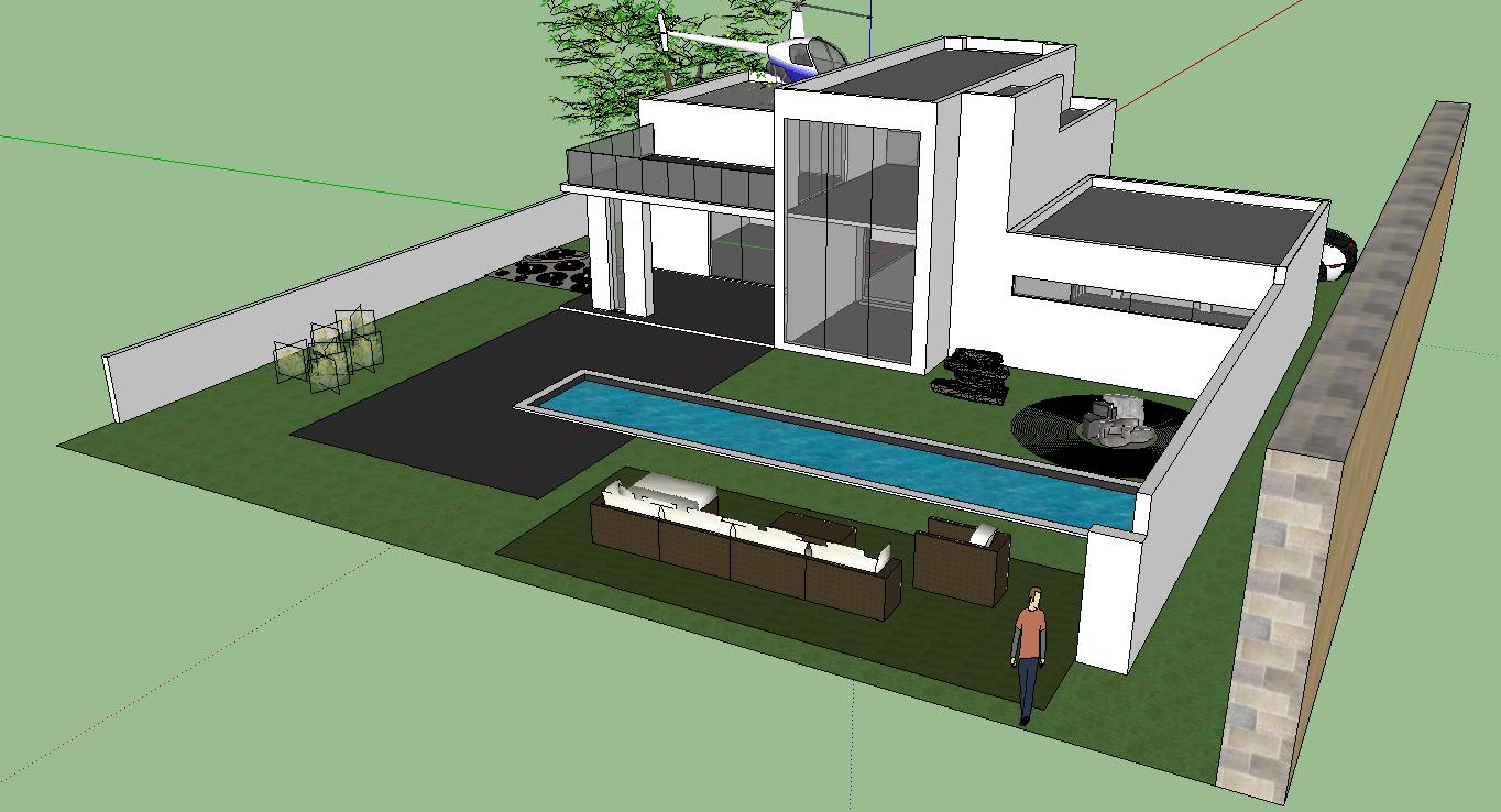 Google Sketchup Project 3 House It 200 Steven Yang