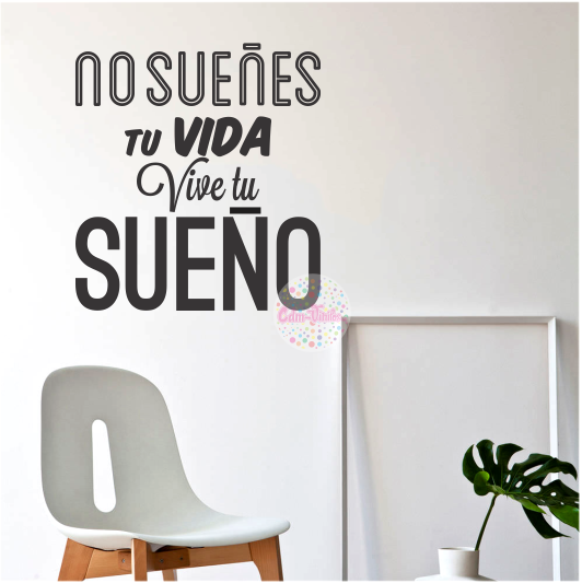 Vinilos decorativos para pared cdm vinilos decorativos for Pegatinas frases pared