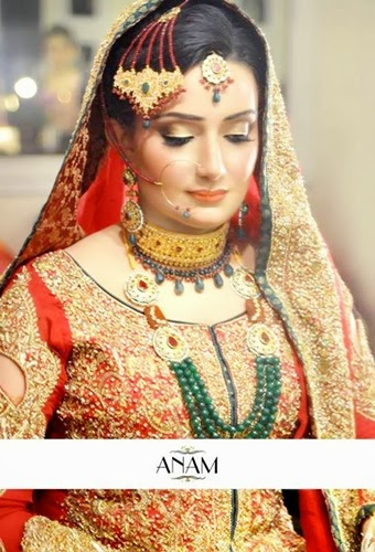 PakistaniBridalMakeupPictures2014 0010 wwwshe stylesblogspotcom - Bridal Makeup Pictures 2014 by Anam.