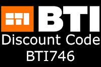 BTI discount code