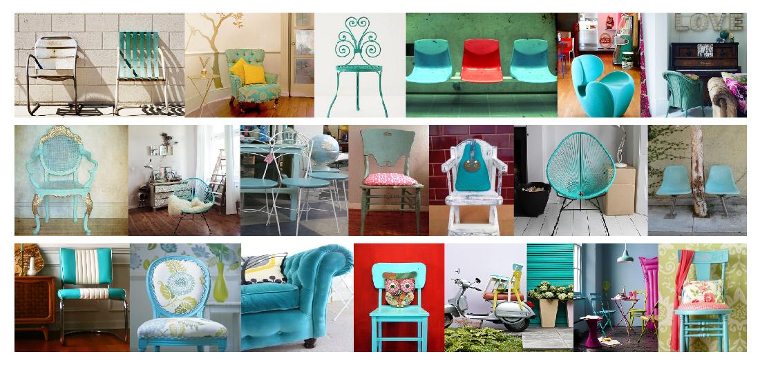 La silla turquesa - Sillas turquesa ...