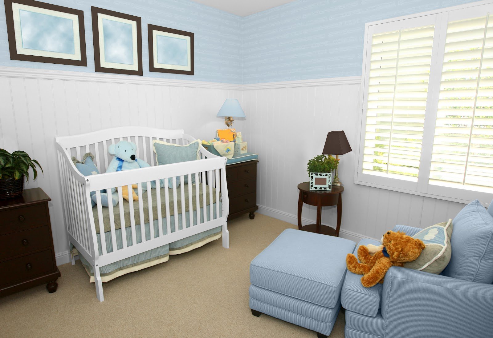 glidden brilliance painted baby room in sweet baby