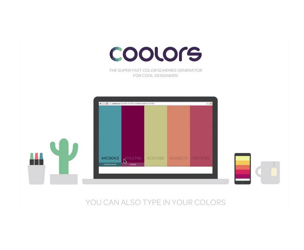 موقع Coolors.co لإختيار الألوان لِتصاميمك