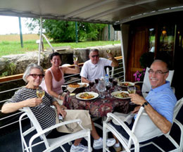 Couples Barge Trip Burgundy France