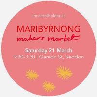 I'm a Maker at Maribyrnong Makers Market
