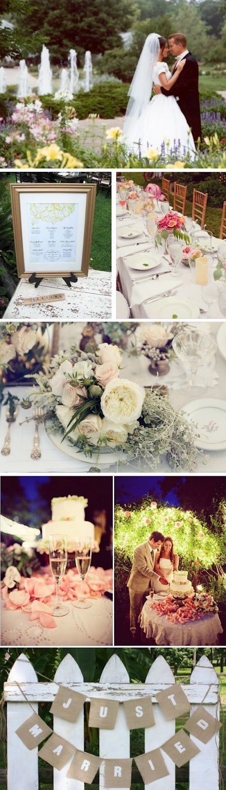 Tips for Garden Weddings Inspiration Board