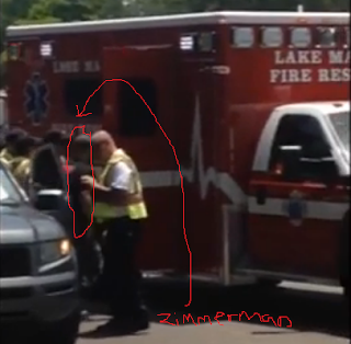 George Zimmerman shot victim fire truck ambulance