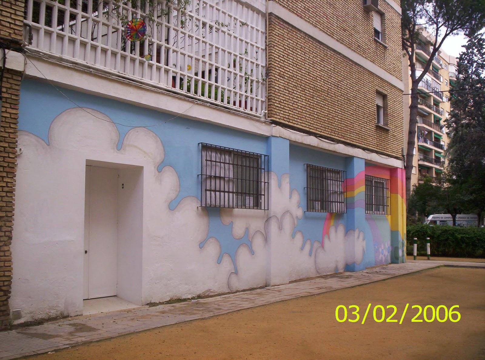 Murales infantiles pintados a mano 8 exterior de centro for Educacion exterior