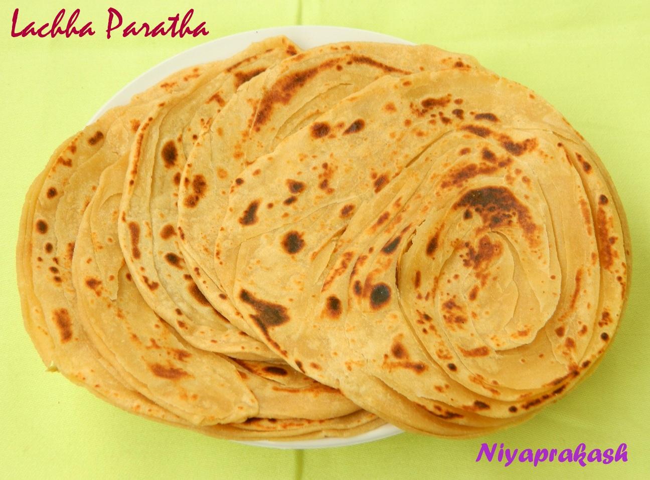niyas world lachha paratha with egg