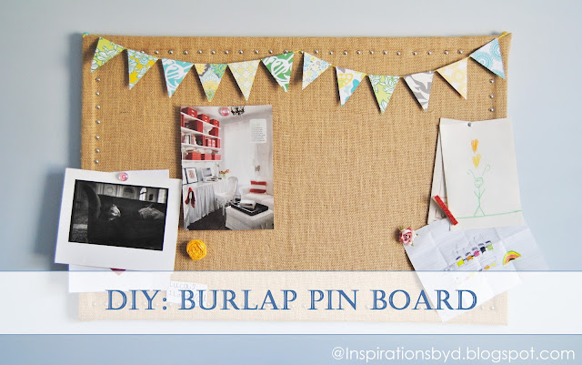 How to Make a Burlap Pin Board
