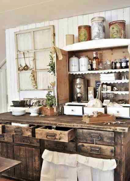 Aranżacja rustykalnej kuchni