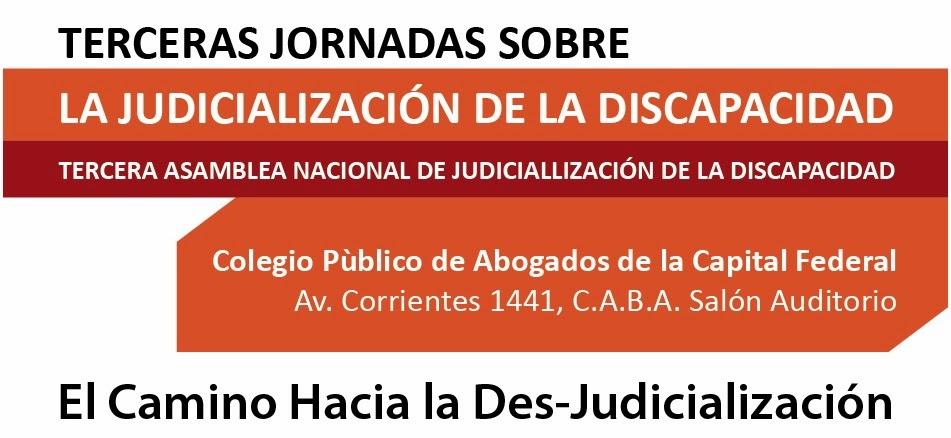 Terceras Jornadas de Judicialización de la Discapacidad