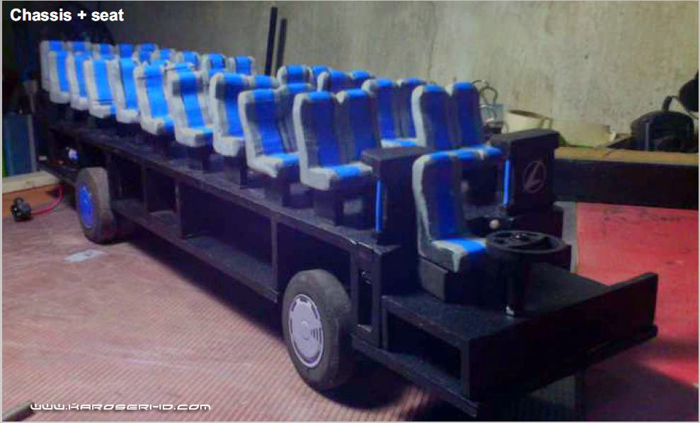 Miniatur Bus Discovery Sugeng Rahayu Seat