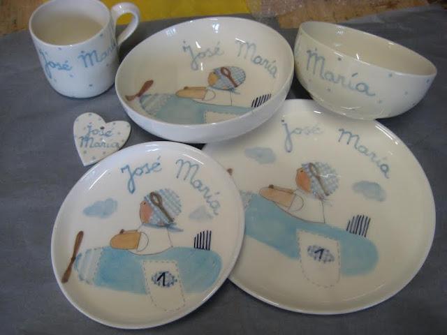 vajilla-infantil-personalizada-nombre-cerámica-artesanal