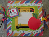 Teacher Chipboard and Paper Bag Scrapbook Album