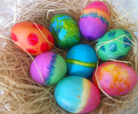 colored easter eggs hd - photo #44