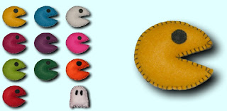 broches fieltro Pacman