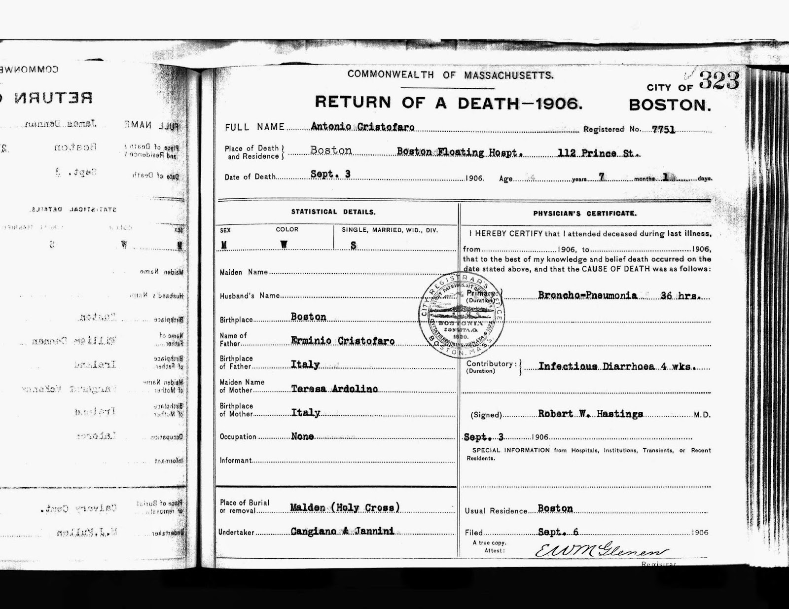 The genealogy of torre le nocelle italy september 2014 boston death certificate 1906 aiddatafo Image collections