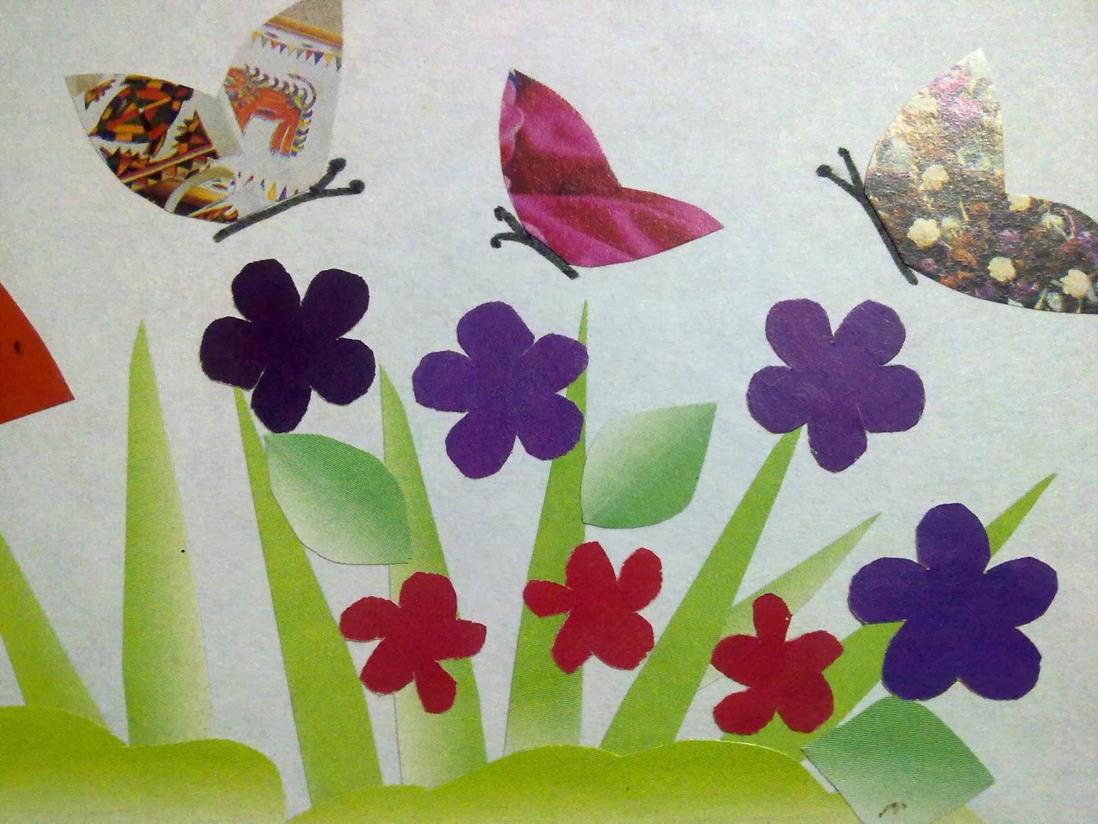 Craft & art : Mushrooms and butterflies of paper art /# paper ...