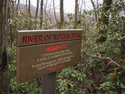 River of Rocks Trail Sign Hawk Mountain Sanctuary Kempton Pennsylvania PA 19529