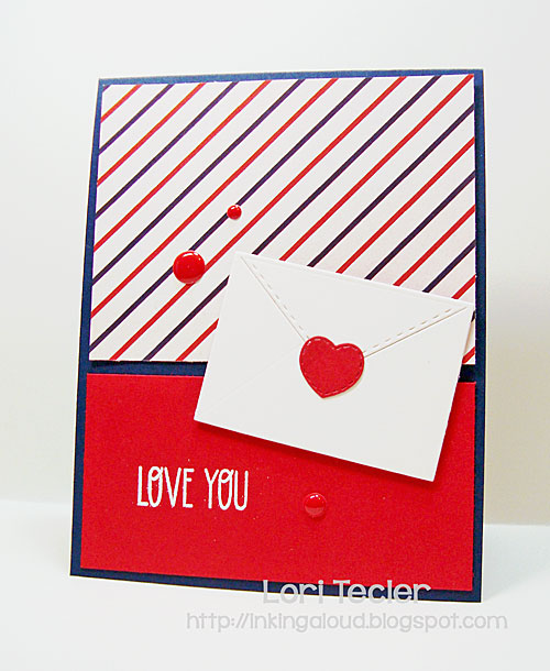 Love You card-designed by Lori Tecler/Inking Aloud-stamps and dies from Lil' Inker Designs