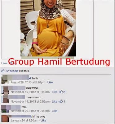 HATI2 SEMUA Kewujudan group facebook yang mensasarkan gambar gambar wanita hamil dan bertudung untuk tujuan lepaskan N4FSU