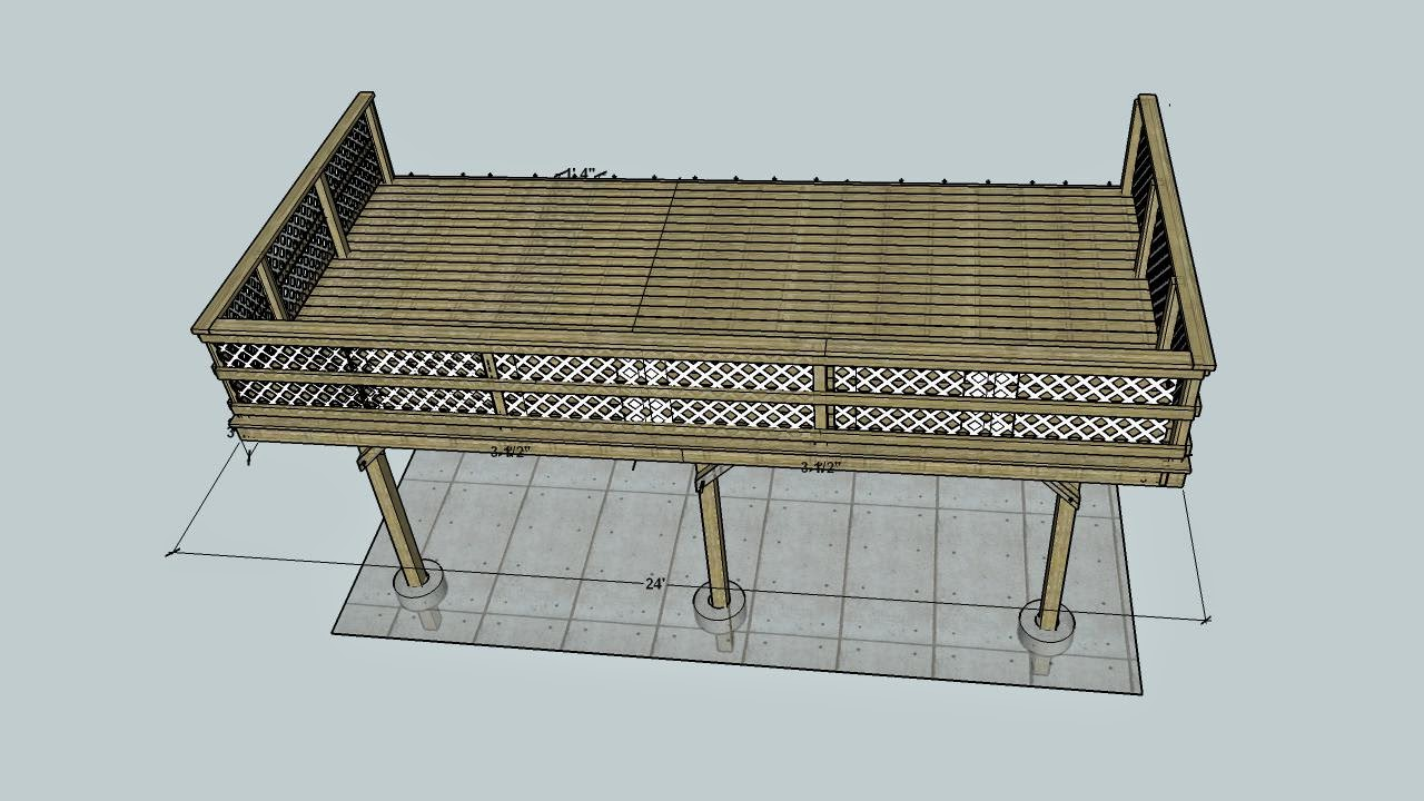 12x20 deck design for Sketchup deck design