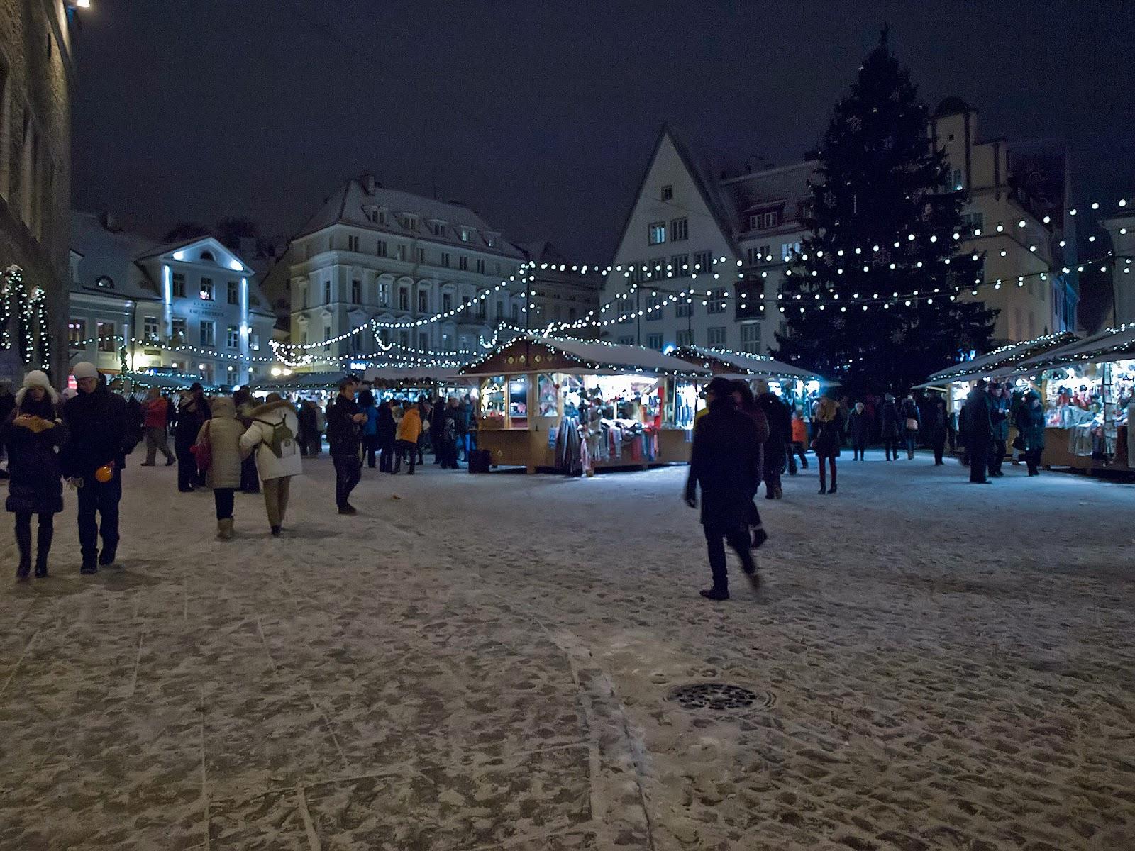 Новый 2015 год в Таллинне. Ратушная площадь