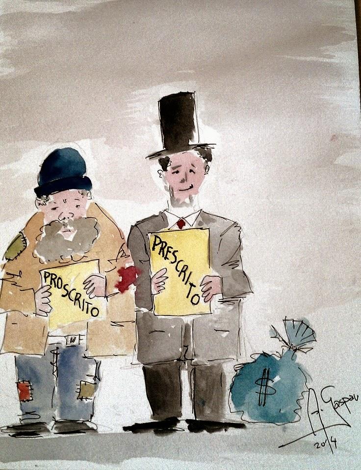 Proscritos, Prescritos, Pobreza, Miséria, Desemprego, Fortunas, Cartoon, António Gaspar, Corrupção, Portugal