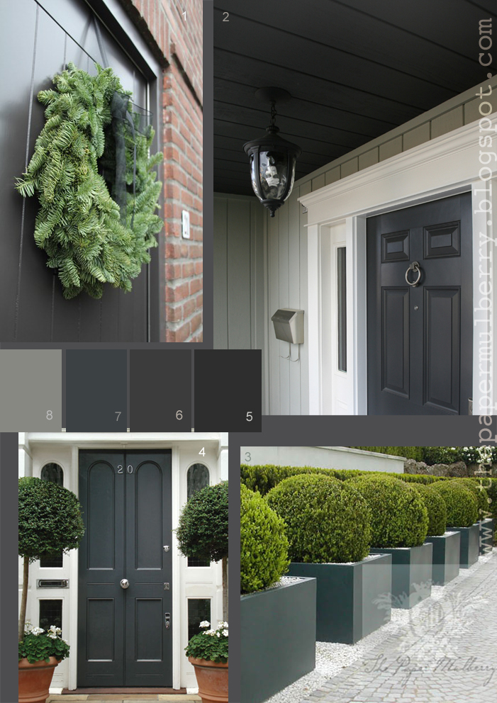 above images 1 the deep grey gray front door of