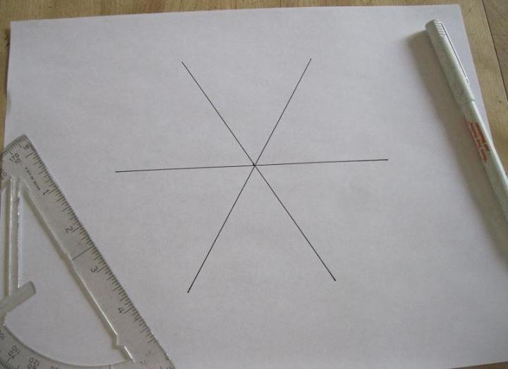 how to draw a hexagon with a protractor