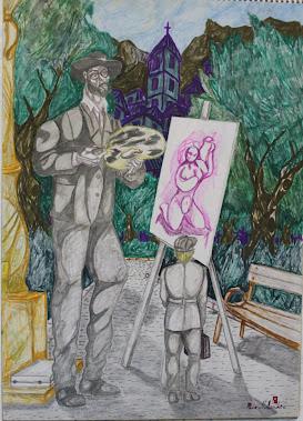 Pintando en el parque 11-4-92