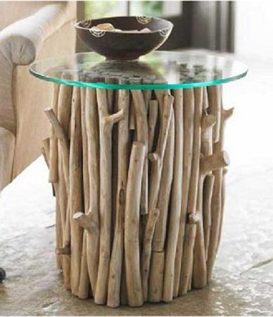 Econotas.com: mesas recicladas, muebles de troncos