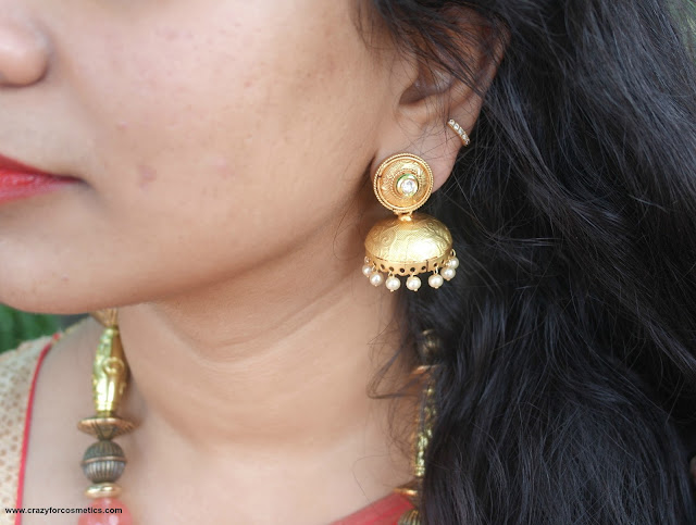 earings for saree