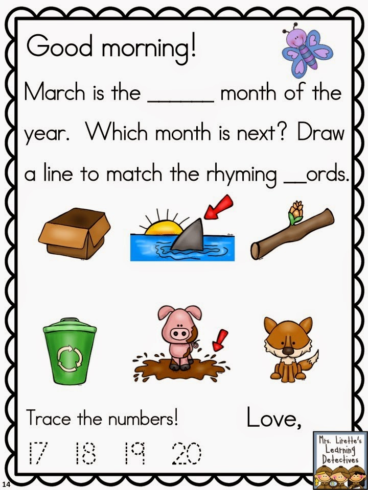 March morning messages mrs lirettes learning detectives march morning messages mrs lirettes learning detectives bloglovin m4hsunfo Image collections