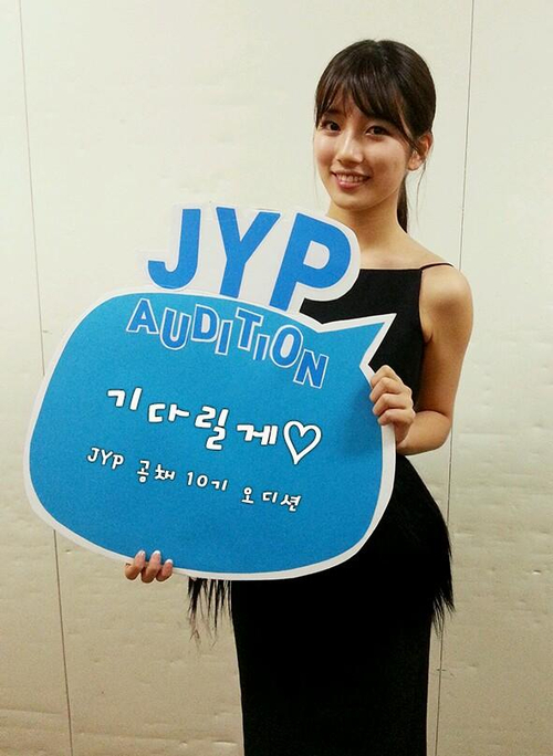 Bae Suzy Miss A Pormote JYP Audition Photo