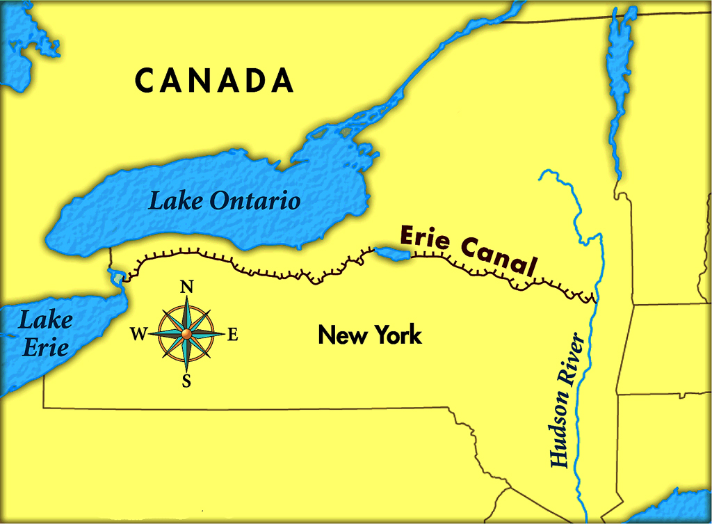 the erie canal was invented in the year of 1825   this is